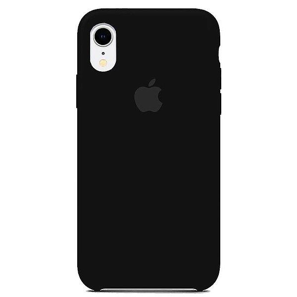 Case Capinha Preta para iPhone XR de Silicone - WXYQNFE28