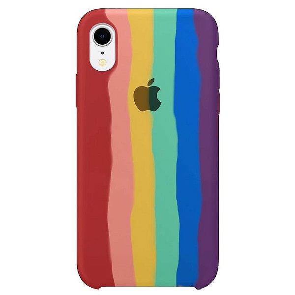 Case Capinha Pride Arco-Íris para iPhone XR de Silicone - L75W3W5XC