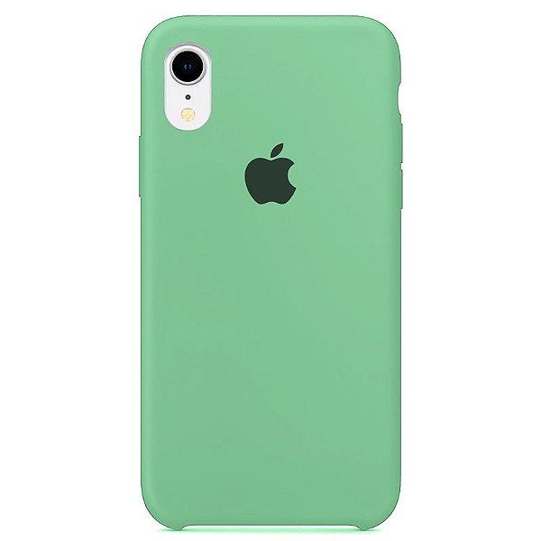Case Capinha Verde Água para iPhone XR de Silicone - CWL85S6EM