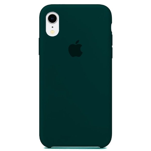 Case Capinha Verde Escuro para iPhone XR de Silicone - CMPEV9Y5Y