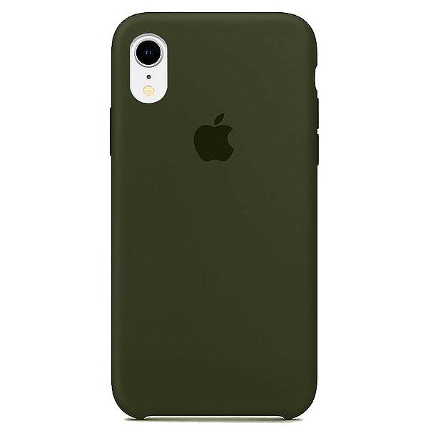 Case Capinha Verde Musgo para iPhone XR de Silicone - Y6YFRJV3S