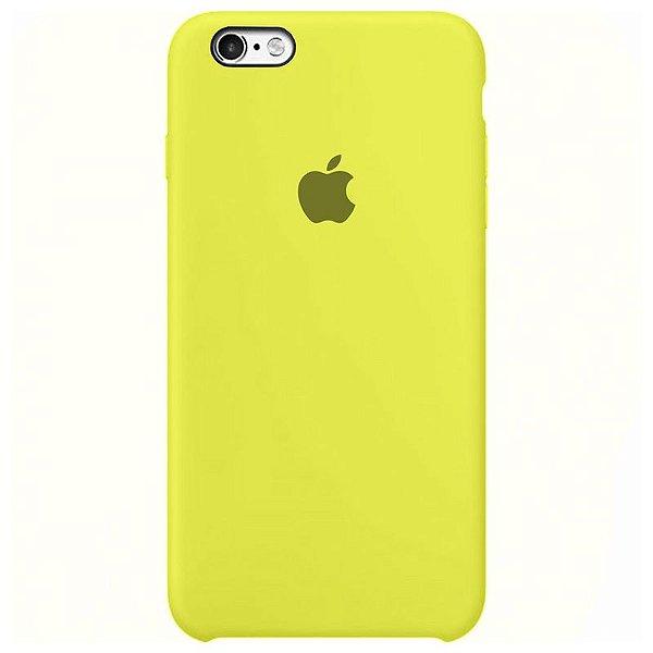 Case Capinha Amarelo Limão para iPhone 6 e 6s de Silicone - GQZ901D9R