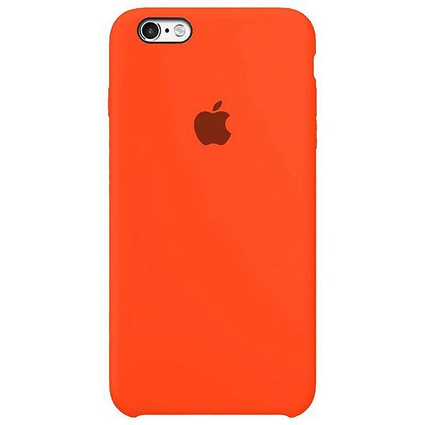 Case Capinha Laranja Neon para iPhone 6 e 6s de Silicone - 7PEOZPMAV