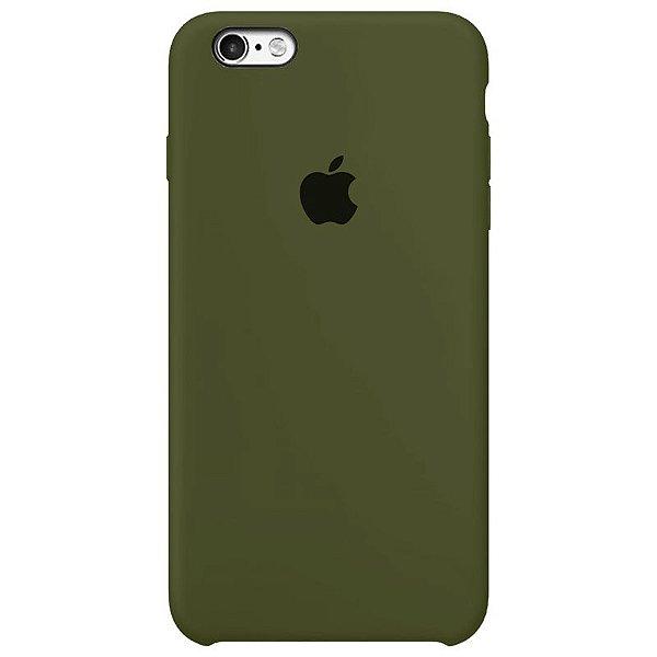 Case Capinha Verde Militar para iPhone 6 e 6s de Silicone - 1RF7VXD76