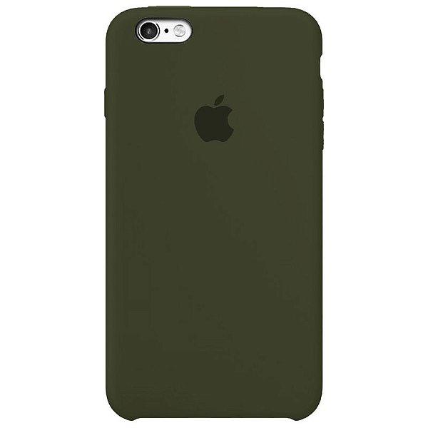 Case Capinha Verde Musgo para iPhone 6 Plus e 6s Plus de Silicone - IRX4AP7JI