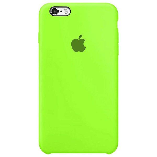 Case Capinha Verde Neon para iPhone 6 Plus e 6s Plus de Silicone - WYGAYFDDT