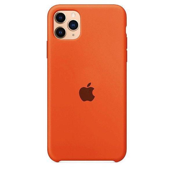 Case Capinha Laranja para iPhone 11 Pro de Silicone - AY5Z36RSH