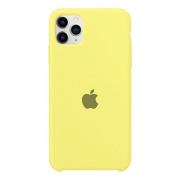 Case Capinha Amarelo Limão para iPhone 11 Pro Max de Silicone - ALAZO279S