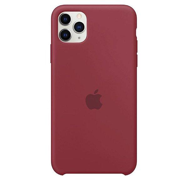 Case Capinha Vermelho Borgonha para iPhone 11 Pro Max de Silicone - 2MH4DPJG1