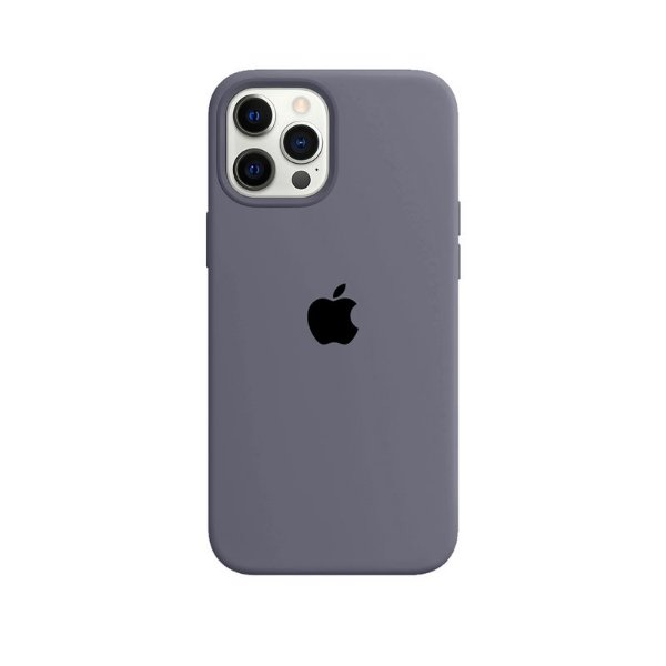 Case Capinha Cinza Lavanda para iPhone 12 Pro Max de Silicone - Z2BLOBOVG