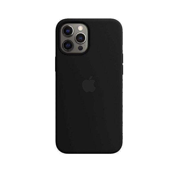 Case Capinha Preta para iPhone 12 Pro Max de Silicone - EBRPXBOAF