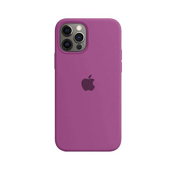 Case Capinha Rosa Hibisco para iPhone 12 Pro Max de Silicone - IW0TJWB7T