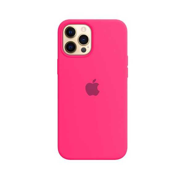 Case Capinha Rosa Pink para iPhone 12 Pro Max de Silicone - LZQAMSVMG