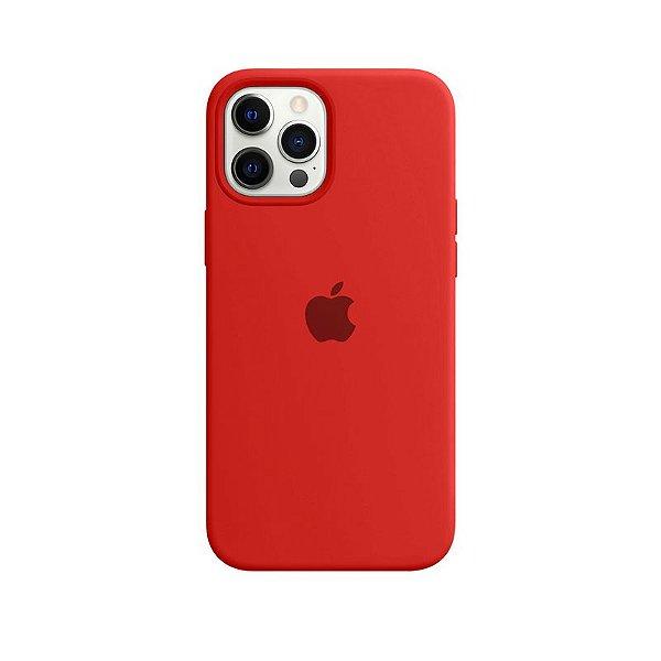 Case Capinha Vermelha para iPhone 12 Pro Max de Silicone - L1LEHGDLE