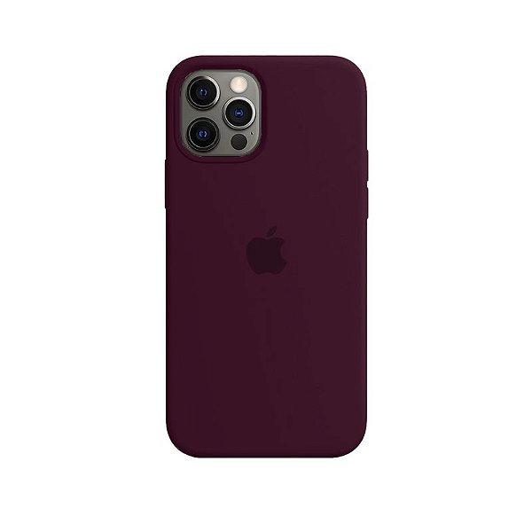 Case Capinha Vermelho Bordô para iPhone 12 Pro Max de Silicone - 2UB4V5I73