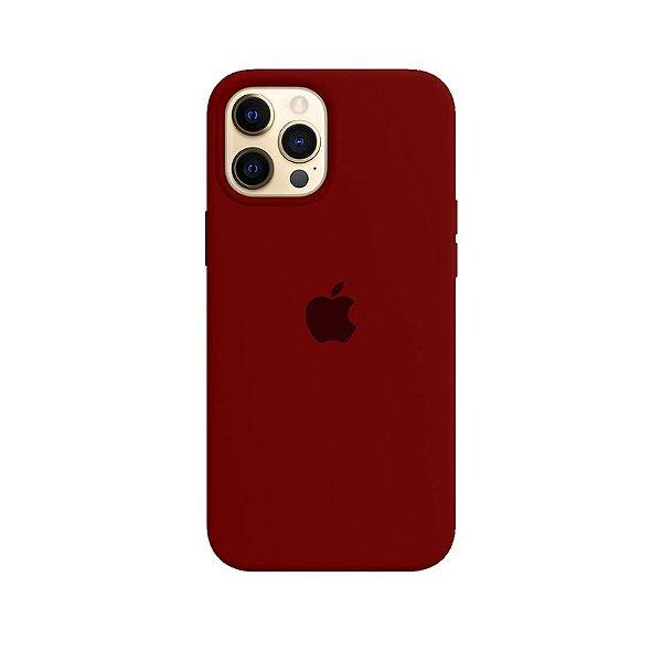 Case Capinha Vermelho Escuro para iPhone 12 Pro Max de Silicone - 76P9P7VMO