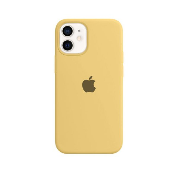 Case Capinha Amarela para iPhone 12 Mini de Silicone - YNSLJAFKF