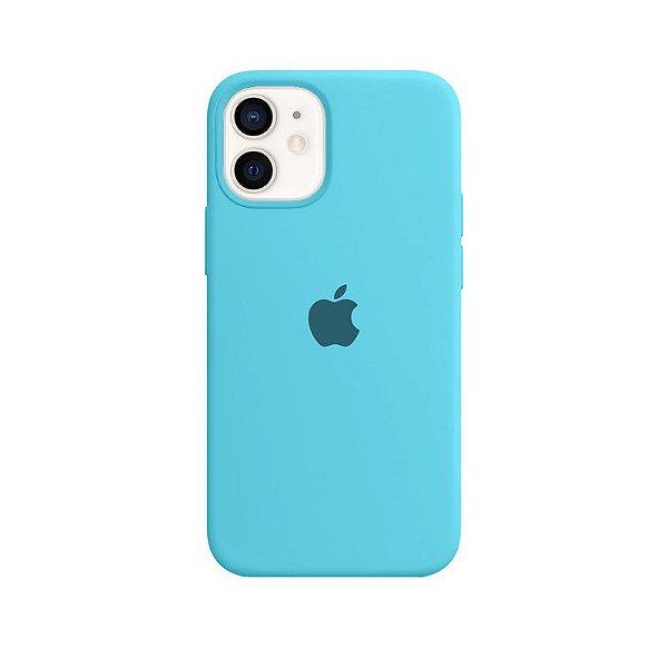 Case Capinha Azul Piscina para iPhone 12 Mini de Silicone - F2L9RN5B2