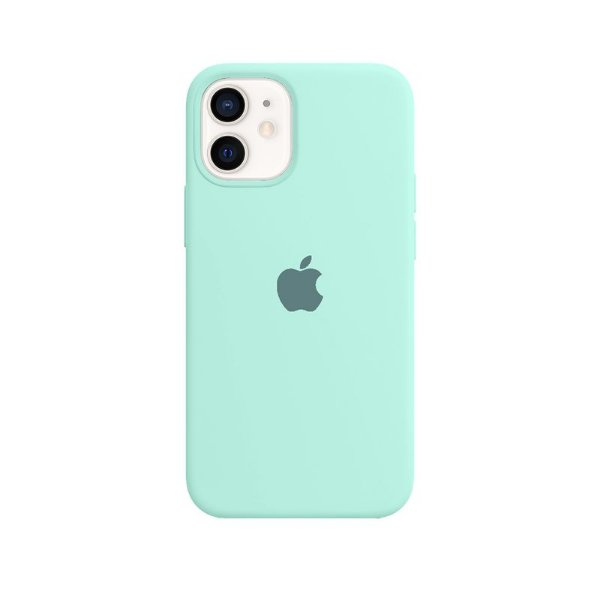 Case Capinha Azul Tiffany para iPhone 12 Mini de Silicone - CGXLBO0QC