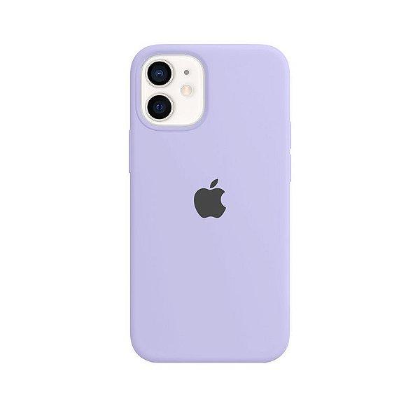 Case Capinha Lilás para iPhone 12 Mini de Silicone - MORHVIHRS