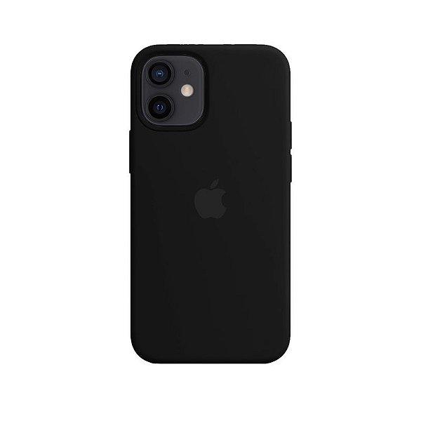 Case Capinha Preta para iPhone 12 Mini de Silicone - TP04J0X19