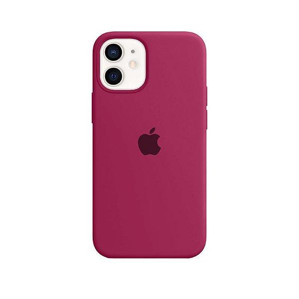Case Capinha Rosa Hibisco para iPhone 12 Mini de Silicone - 4ZAIWU8KB