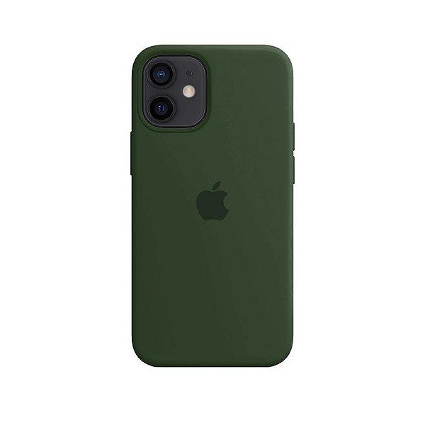 Case Capinha Verde Bandeira para iPhone 12 Mini de Silicone - 4GAYMH26N