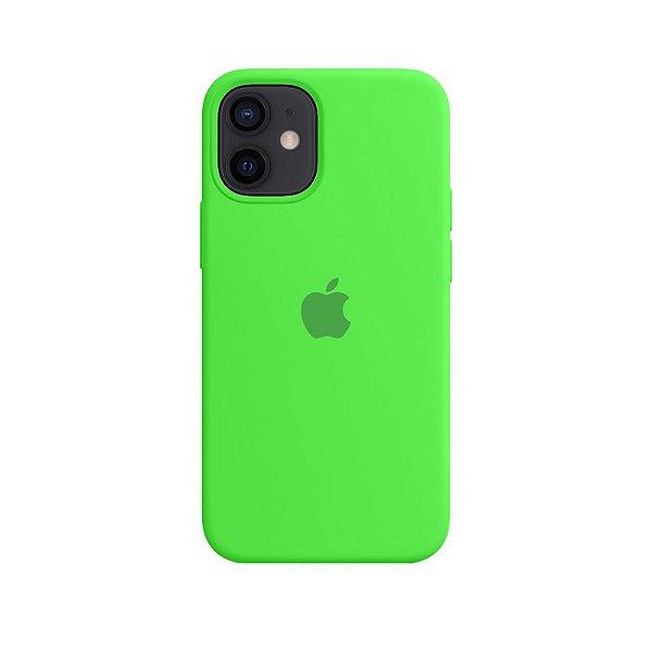 Case Capinha Verde Neon para iPhone 12 Mini de Silicone - MNONYBDAN