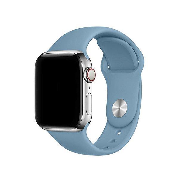 Pulseira Azul Caribe para Apple Watch Serie (1/2/3/4/5/6/SE) de Silicone - H3682XGHR