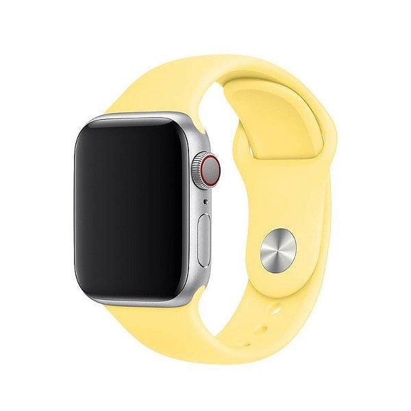 Pulseira Amarelo Bebê para Apple Watch Serie (1/2/3/4/5/6/SE) de Silicone - LHA4IR00Q