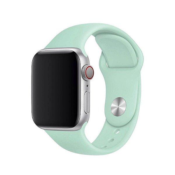 Pulseira Azul Céu para Apple Watch Serie (1/2/3/4/5/6/SE) de Silicone - 8BXMAD6D6