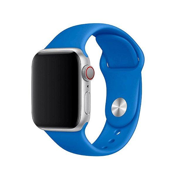 Pulseira Azul Royal para Apple Watch Serie (1/2/3/4/5/6/SE) de Silicone - 40QQRCYIG