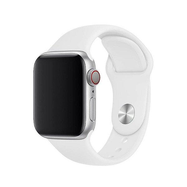 Pulseira Branca para Apple Watch Serie (1/2/3/4/5/6/SE) de Silicone - EJISVL47Y
