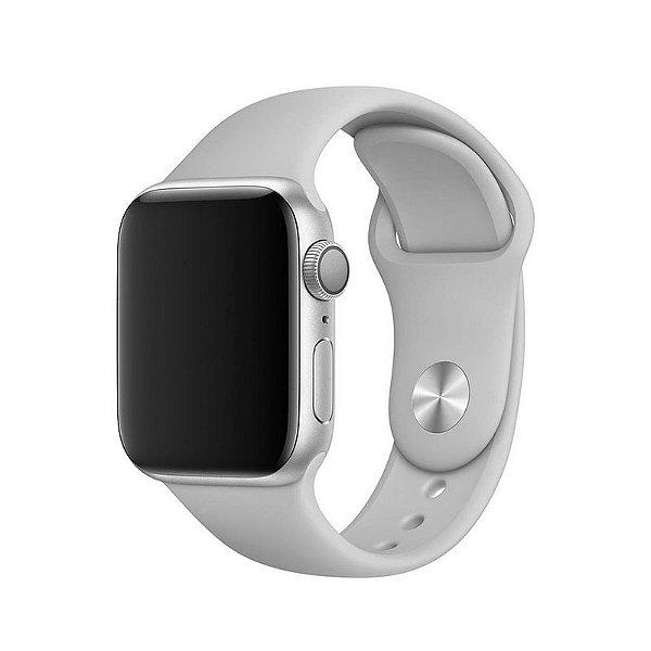 Pulseira Cinza para Apple Watch Serie (1/2/3/4/5/6/SE) de Silicone - WJ00CJQ0C
