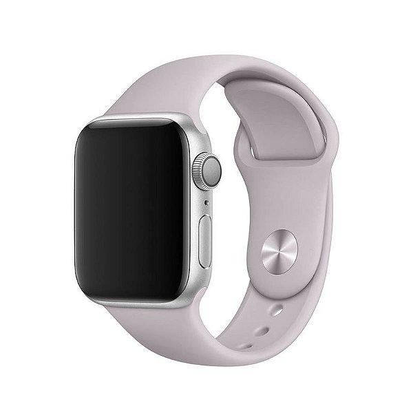 Pulseira Cinza Concreto para Apple Watch Serie (1/2/3/4/5/6/SE) de Silicone - 2FLOGFHOJ