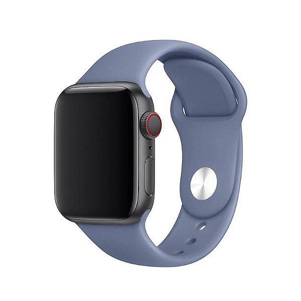 Pulseira Cinza Lavanda para Apple Watch Serie (1/2/3/4/5/6/SE) de Silicone - IZ4ZGRQOX