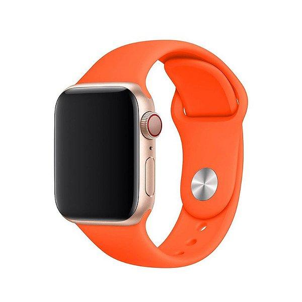 Pulseira Laranja para Apple Watch Serie (1/2/3/4/5/6/SE) de Silicone - 0IS7IMPCE