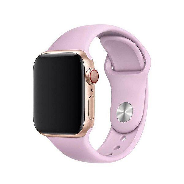Pulseira Lilás para Apple Watch Serie (1/2/3/4/5/6/SE) de Silicone - HEMP1DXI9