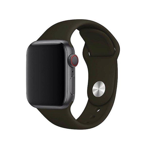 Pulseira Marrom para Apple Watch Serie (1/2/3/4/5/6/SE) de Silicone - 5QKMOI767