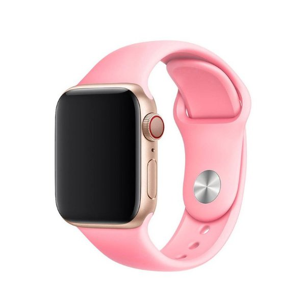 Pulseira Rosa para Apple Watch Serie (1/2/3/4/5/6/SE) de Silicone - 6RAP7HK9V