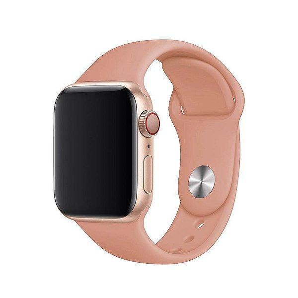 Pulseira Rosa Pêssego para Apple Watch Serie (1/2/3/4/5/6/SE) de Silicone - 48ZM0F9XW