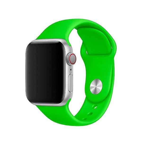 Pulseira Verde para Apple Watch Serie (1/2/3/4/5/6/SE) de Silicone - 3C0SF8D30
