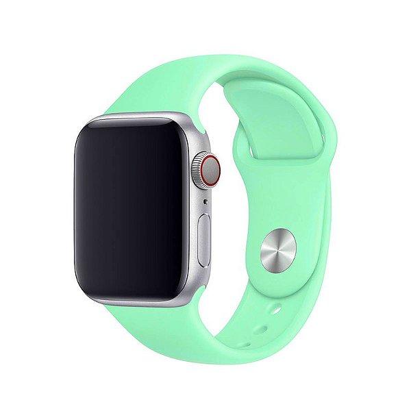 Pulseira Verde Água para Apple Watch Serie (1/2/3/4/5/6/SE) de Silicone - QATBTZD1X