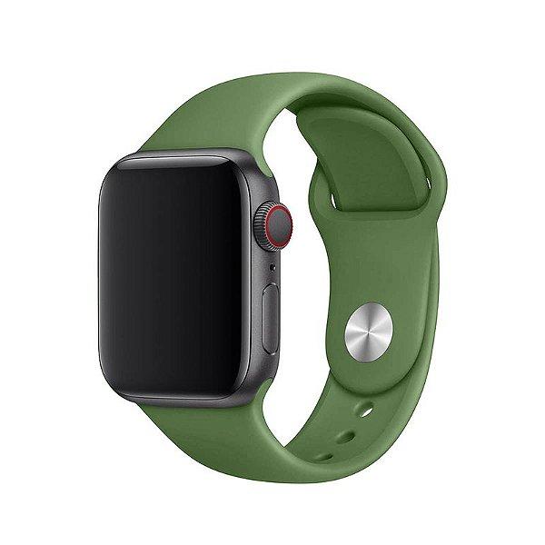 Pulseira Verde Bandeira para Apple Watch Serie (1/2/3/4/5/6/SE) de Silicone - A0I6TKSUN