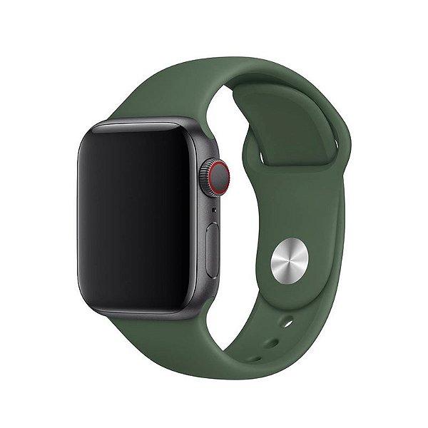 Pulseira Verde Floresta para Apple Watch Serie (1/2/3/4/5/6/SE) de Silicone - 8XLK0KVBN