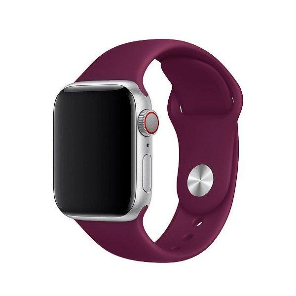 Pulseira Vermelho Escuro para Apple Watch Serie (1/2/3/4/5/6/SE) de Silicone - V39UWJIHR