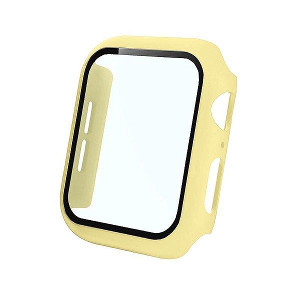 Bumper Case Com Película Amarela para Apple Watch Series (1/2/3/4/5/6/SE) de Silicone - U30FCPIT0
