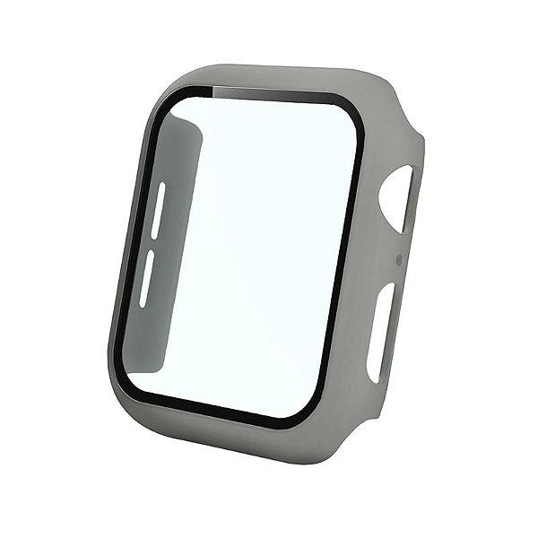 Bumper Case Com Película Cinza para Apple Watch Series (1/2/3/4/5/6/SE) de Silicone - OEE0BFUU5