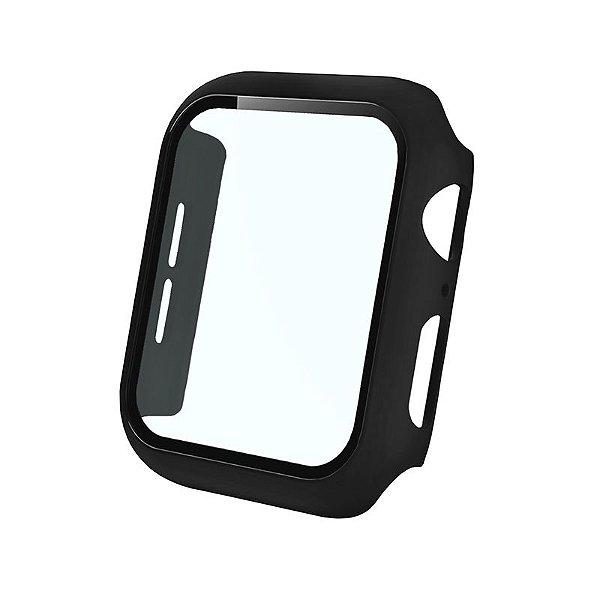Bumper Case Com Película Preta para Apple Watch Series (1/2/3/4/5/6/SE) de Silicone - 2Y8PCQ5LO
