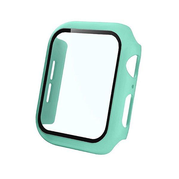Bumper Case Com Película Verde Água para Apple Watch Series (1/2/3/4/5/6/SE) de Silicone - VX92VWK0Q